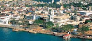Zanzibar, panoramica del quartiere di Stone Town