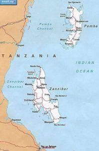 Zanzibar Cartina geografica