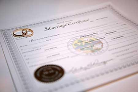 Matrimonio all'estero, certificato di matrimonio