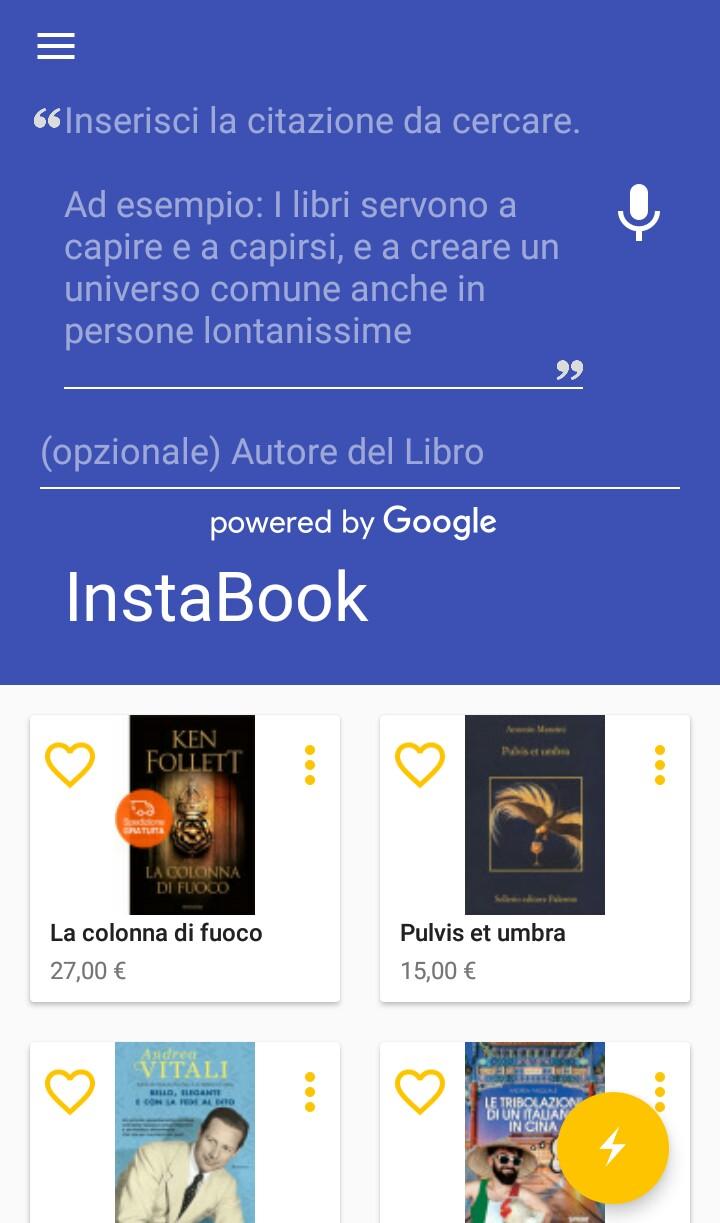 Instabook, la app per risalire alle citazioni