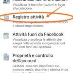 Come ritrovare un post su facebook da cellulare, esempio step 2
