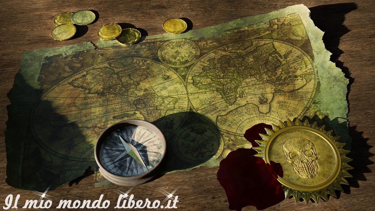 tesoro dell'isola del cocco, mappa