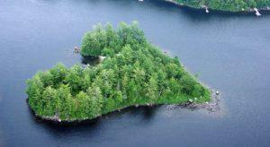 luoghi a forma di cuore, Blueberry Island