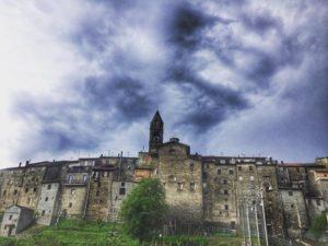 Virgoletta Vista del Borgo, con temporale