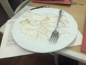 Degustazione di vini, piatto di Lardo di Colonnata