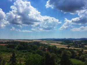 Lorenzana vista dalla terrazza panoramica