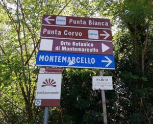 Punta Corvo, cartello indicazioni