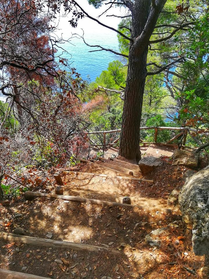 Punta Corvo, scorcio del sentiero