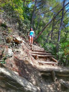 Punta Corvo, io lungo il sentiero