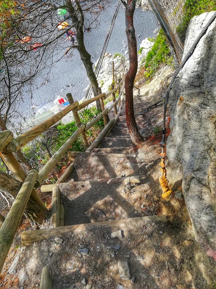 Punta Corvo, sentiero
