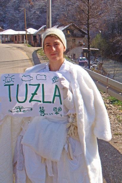 Pippa Bacca in viaggio verso Tuzla
