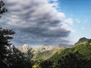 Parco regionale delle alpi apuane, vista da campocecina