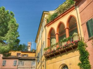 Santarcangelo di Romagna, scorcio del borgo