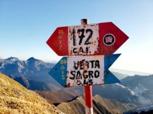 Escursione sul Monte Sagro, indicazioni lungo il sentiero