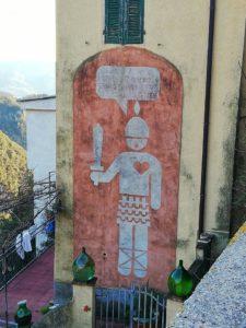 Casoli graffito raffigurante un soldato