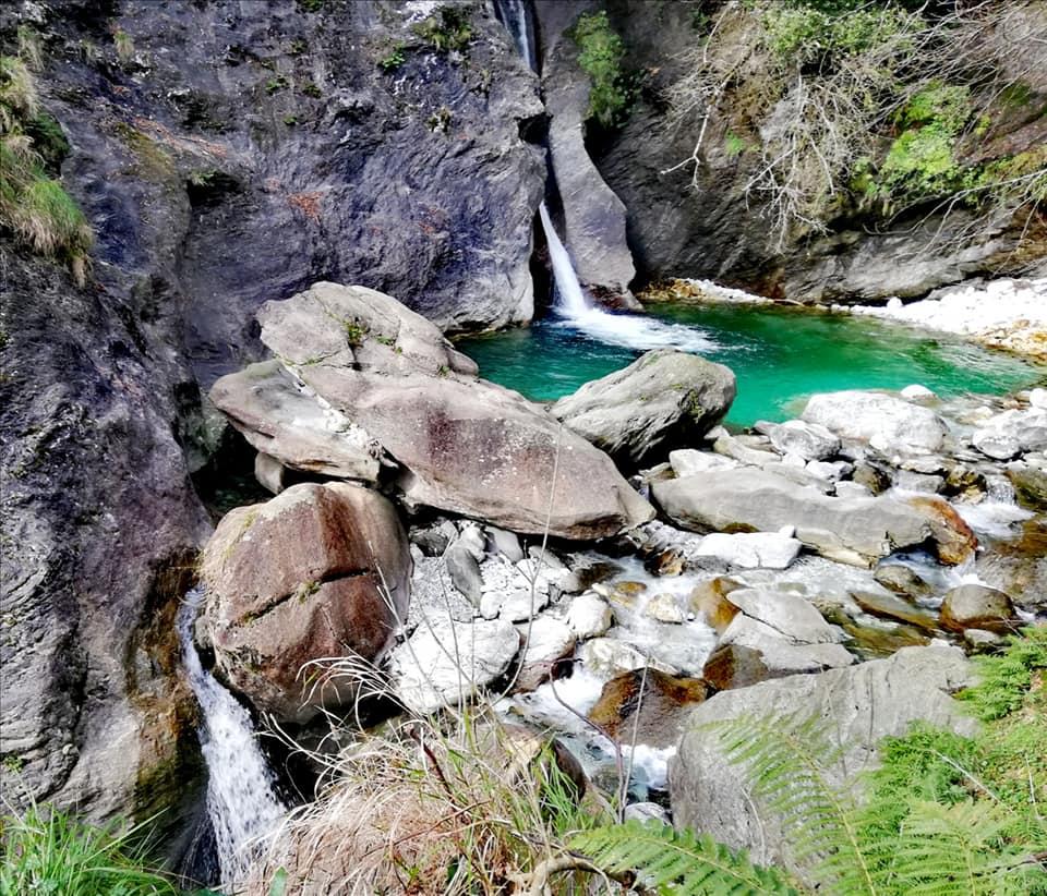 Cascate di Malbacco, Pozzo della Madonna e cascata