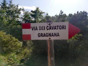 Via dei cavatori, bivio sentiero Gragnana