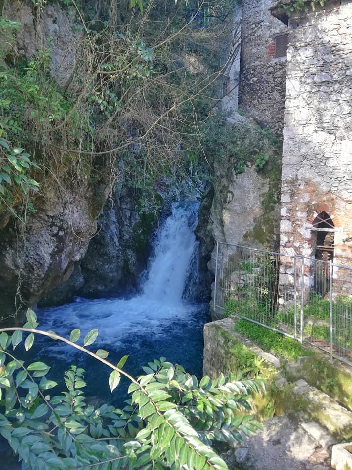 Cascate di Candalla, molino Taccone e prima cascata