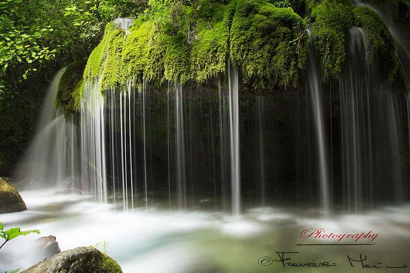 piscine naturali in Italia, Cascata capelli di Venere