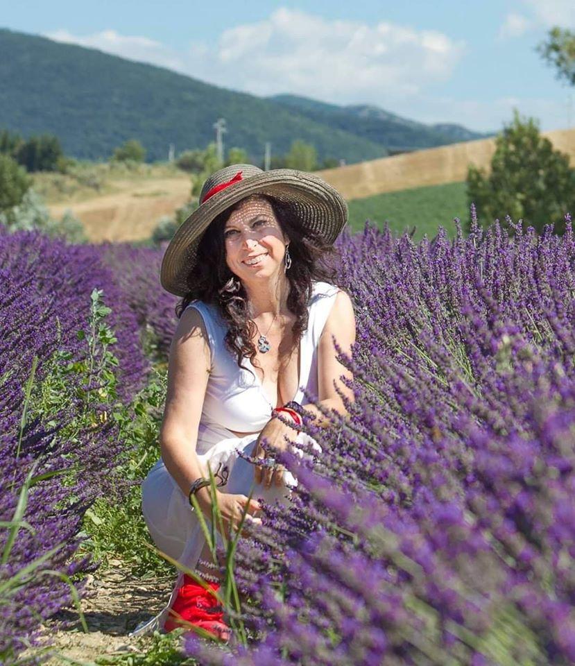 Me nei campi di Lavanda in Toscana