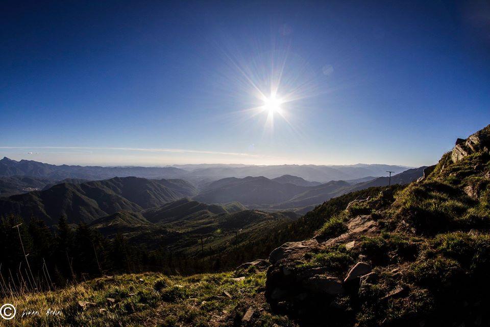 Vista dalla ex base NATO del Monte Giogo, Comano, Massa Carrara
