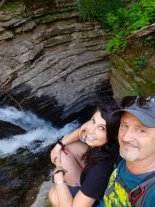 Noi alla Cascata della Colombaia