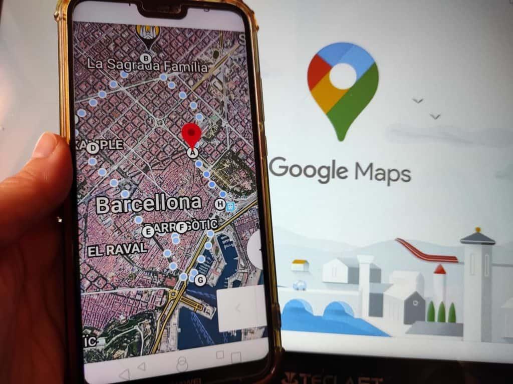 come come creare itinerario turistico Google Maps