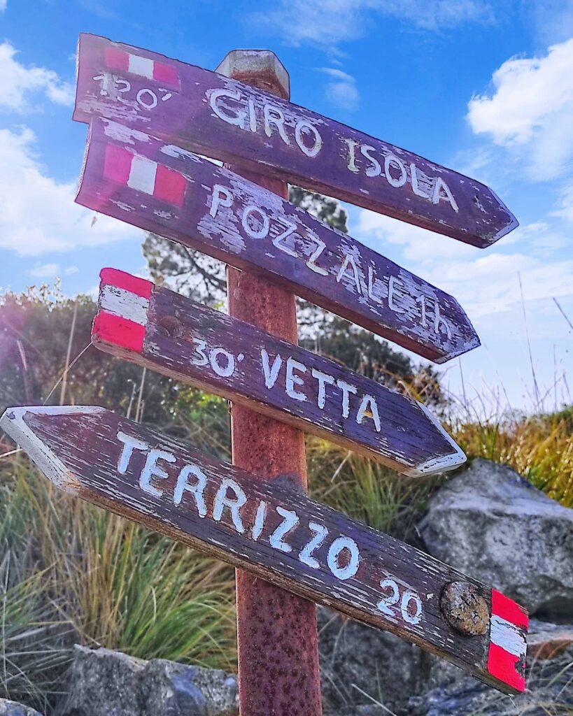 Trekking Isola Palmaria, indicazioni lungo il sentiero