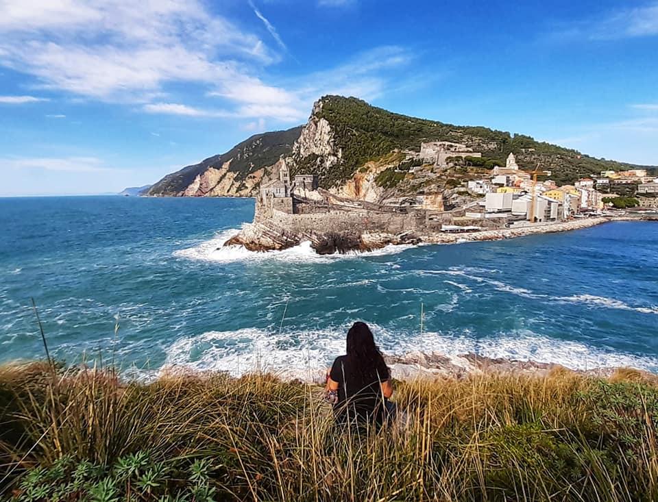Trekking Palmaria. vista sullo stretto dell bocche e su Portovenere