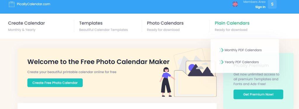 Come creare calendario on line con picallycalendar