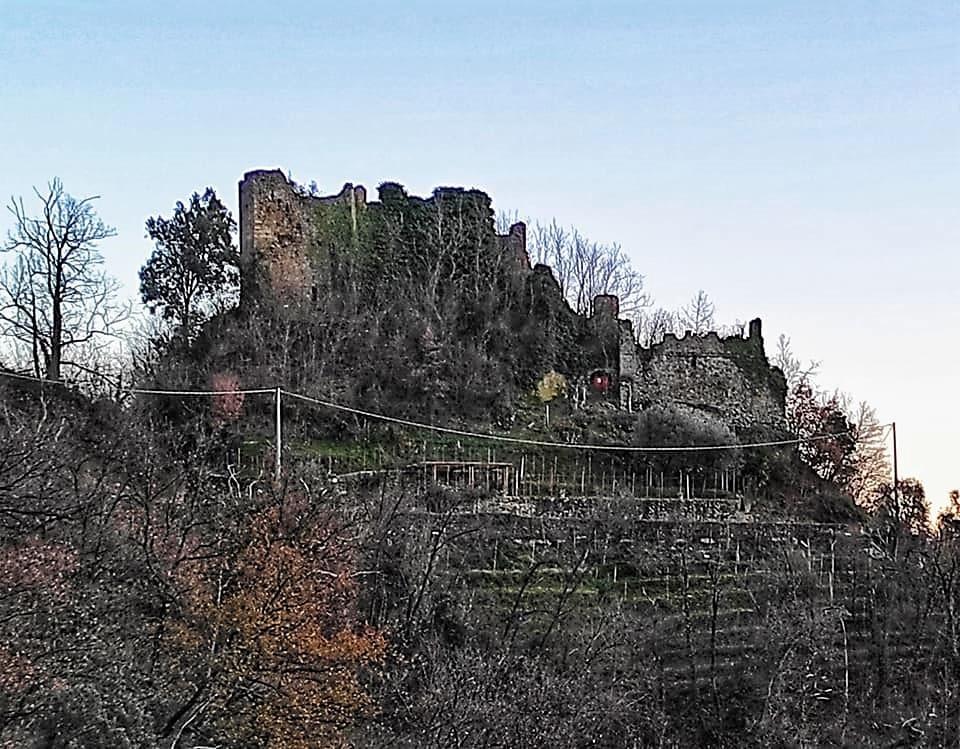 Castello di Moneta, vista dal percorso pedonale