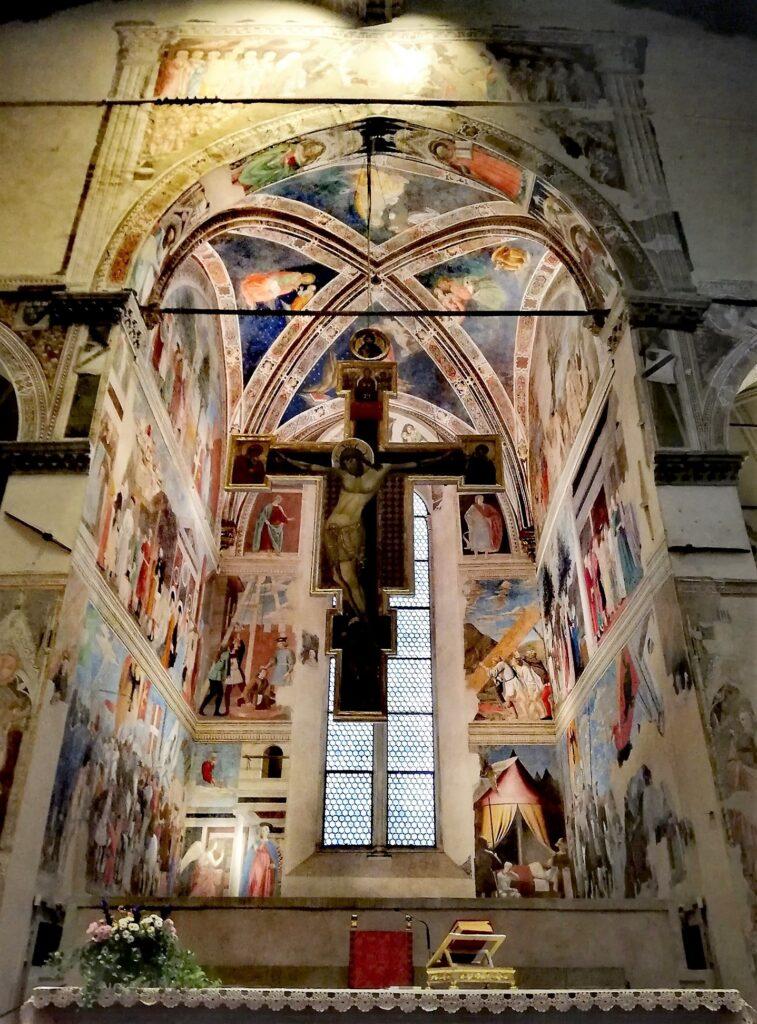 Basilica di San Francesco, Arezzo, gli affreschi di Pier della Francesca