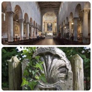 Duomo di Pistoia e Conchiglia siambola del Cammino di Santiago