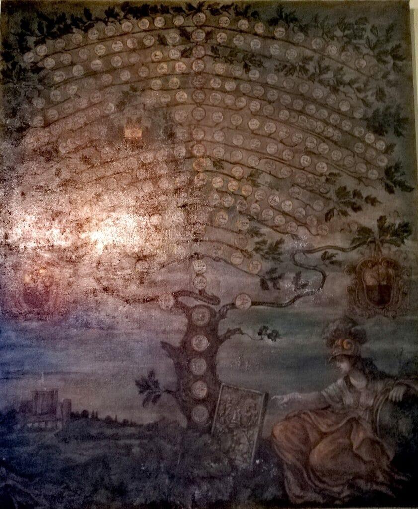 Malaspina, dipinto dell'Albero genealogico conservato nel Castello di Fosdinovo