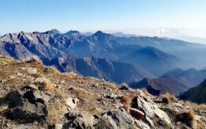 Vista delle vette Alpia Apuane dal Monte Sagro