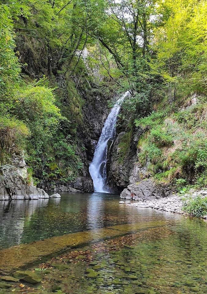 La Cascata dell'Acquetta a Monterole, Bagnone , Lunigiana