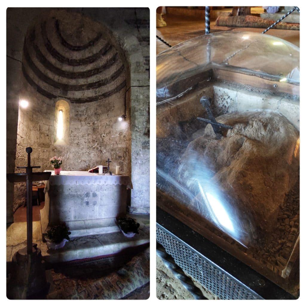 abbazia di San Galgano, interno eremo di Montesiepi
